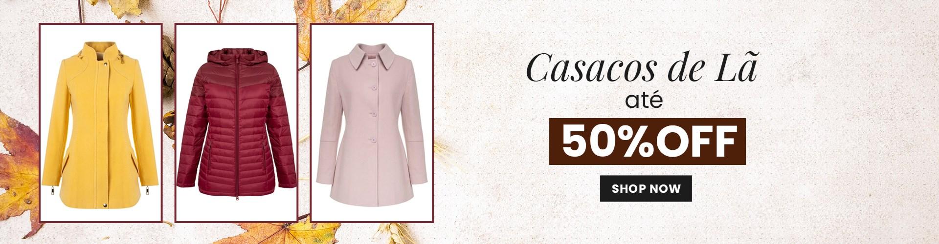 Casacos 50% OFF