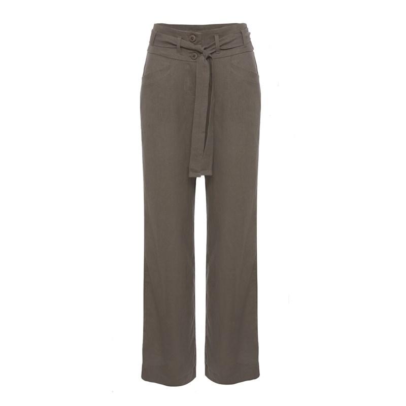 ALPELO - Calça pantalona em linho