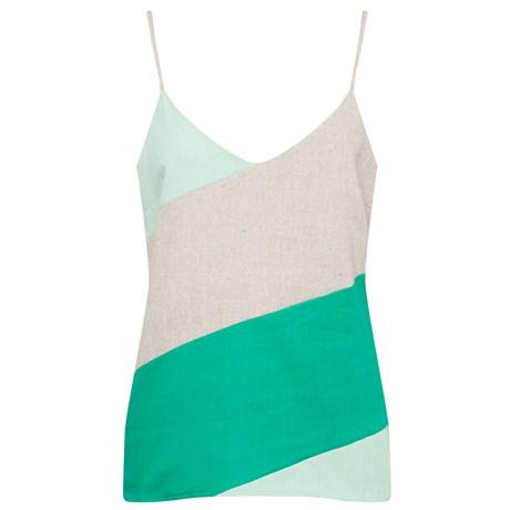 ALPELO - Regata Viscolinho Bicolor Verde