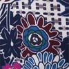 AMÍSSIMA - VESTIDO BLUSADO BARRADO FLORAL FLOWER - AZUL
