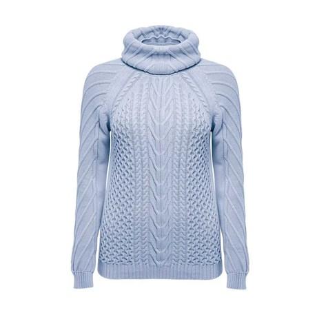 ANSELMI - Blusa  de Tricot Anselmi com Gola Avulsa Azul