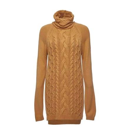 ANSELMI - Blusa de Tricot Maxi Pull Laranja