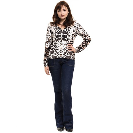 Anselmi - Cardigan Animal Print Branco