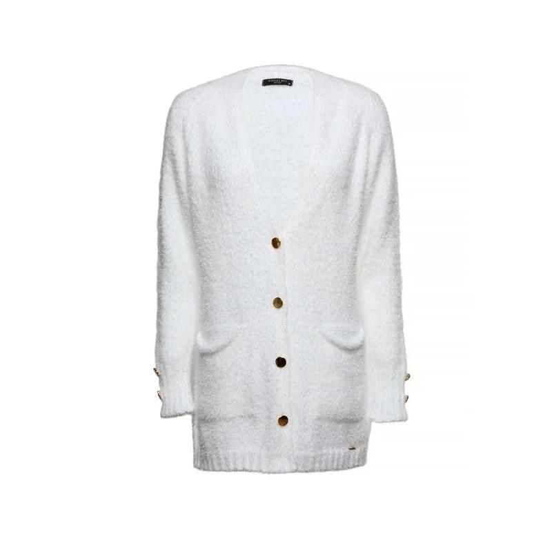 ANSELMI - Casaco de Tricot Soft Anselmi Branco