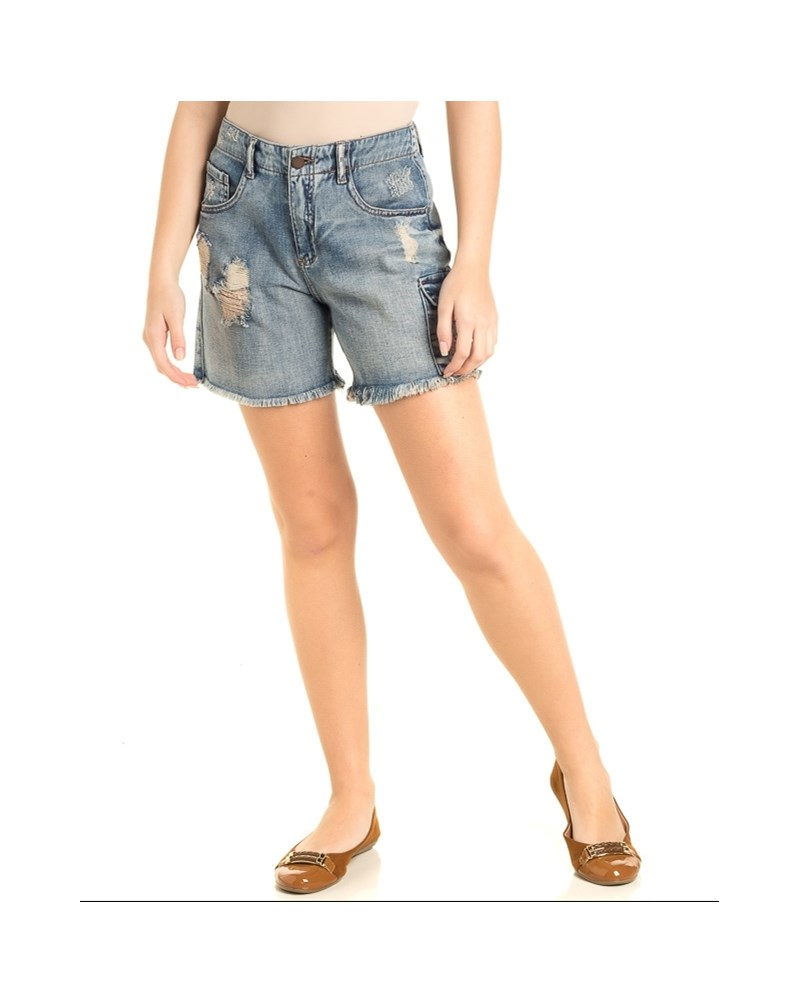 BERMUDA JEANS CANTÃO NAINAI JEANS - JEANS