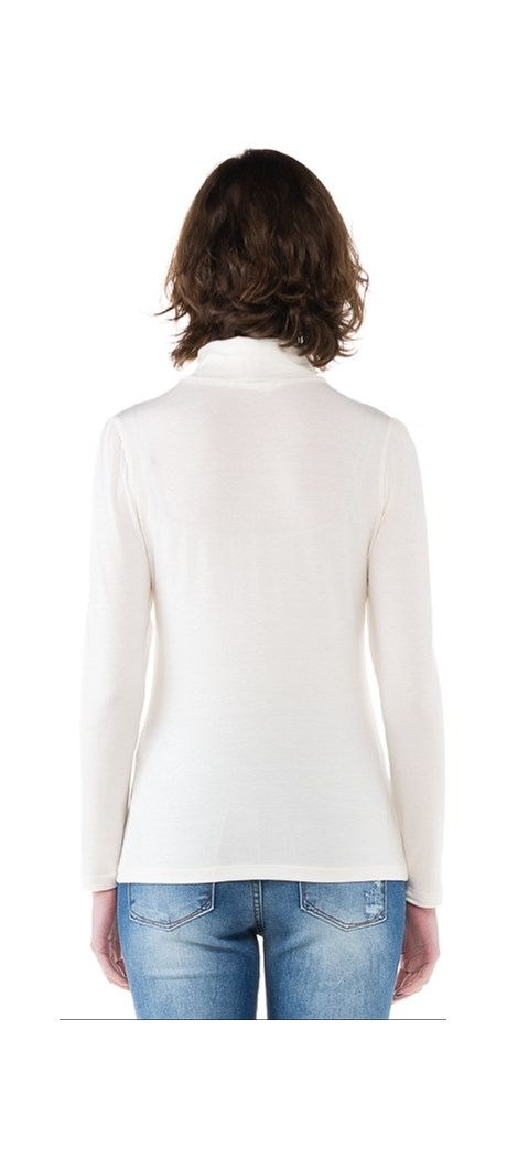 BLUSA BÁSICA AMISSIMA CACHARREL - OFF WHITE