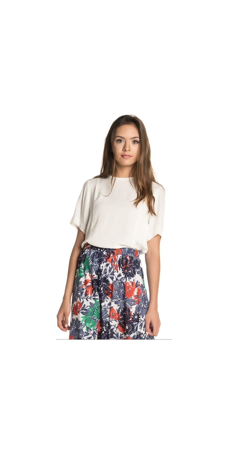 BLUSA BORDA BARROCA JASMINE - OFF WHITE