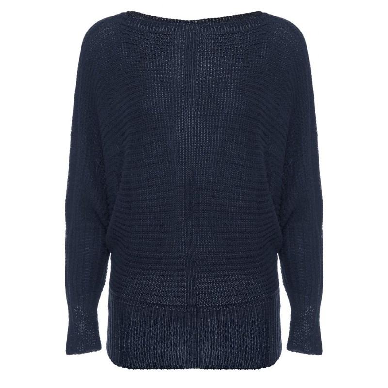 Blusa de Tricot Fita Azul Marinho - Anselmi
