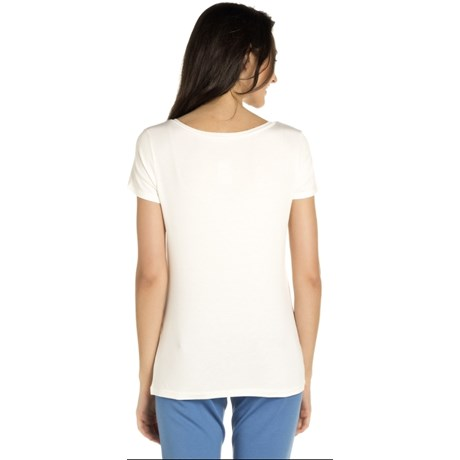 BLUSA NICE CLUB BÁSICA  DECOTE V - OFF WHITE