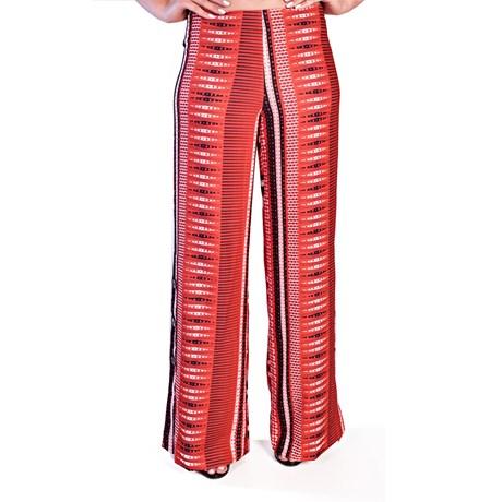 Calça Estampa Vermelha - Cléo Aidar