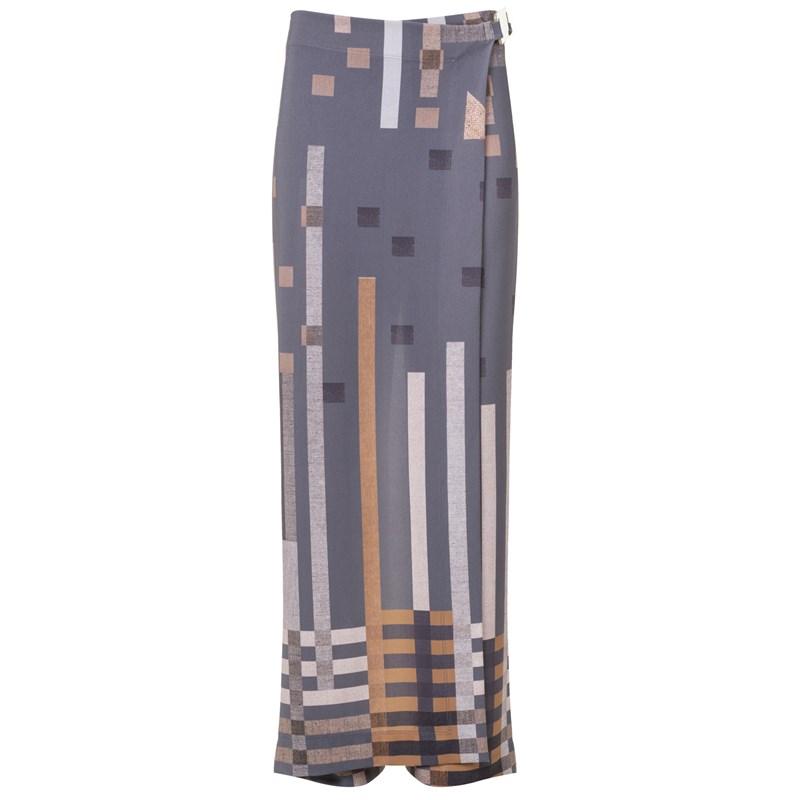 Calça Transpassada Estampa Pixel - Cléo Aidar