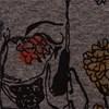 CAMISETA AMPLA PRINT CAVEIRA C/FLOR - GRAFITE