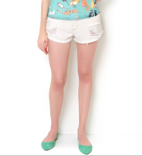 CANTÃO - SHORTS SARJA COLOR - OFF WHITE