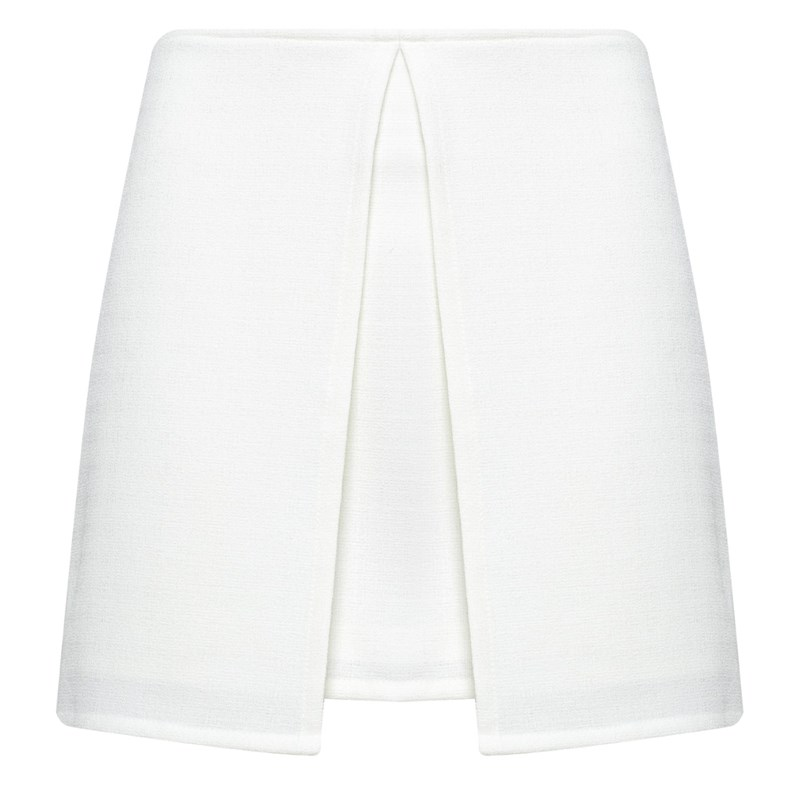 CAPITOLLIUM - MINI SHORT SAIA ALFA OFF WHITE