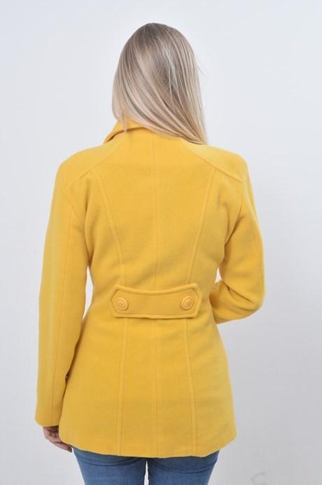 Casaco Lã 3/4 Lapelas - Amarelo