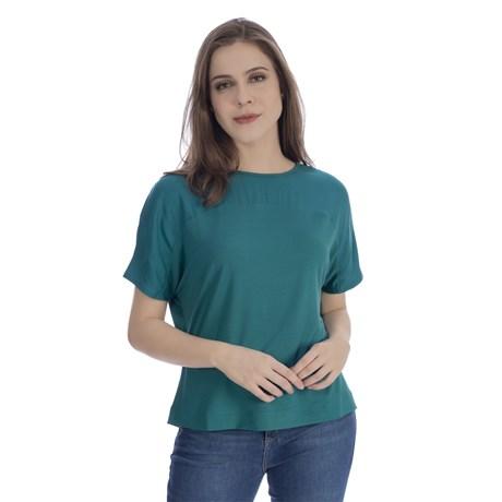 CHOLET - Blusa de malha de crepe ampla com recorte