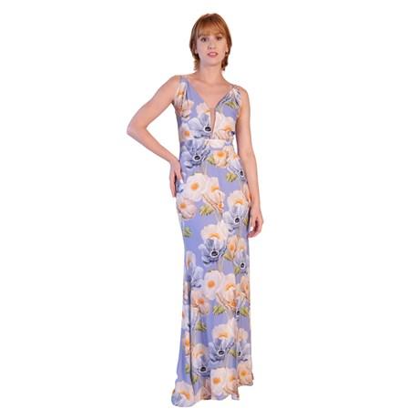 CHOLET - Vestido Longo Maxi Floral com tule