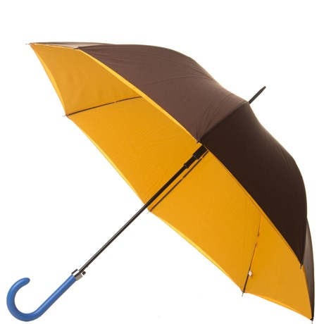 CONTORNOS - GUARDA-CHUVA LONGO DOUBLE COLOR - MARROM