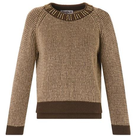 Friolã - Pull tricot gola canutilhos - MARROM