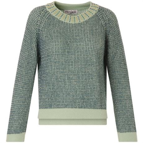 Friolã - Pull tricot gola canutilhos - VERDE