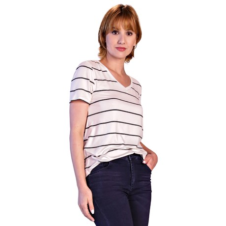 ITS&CO - T-shirt Delicate Branca Listras