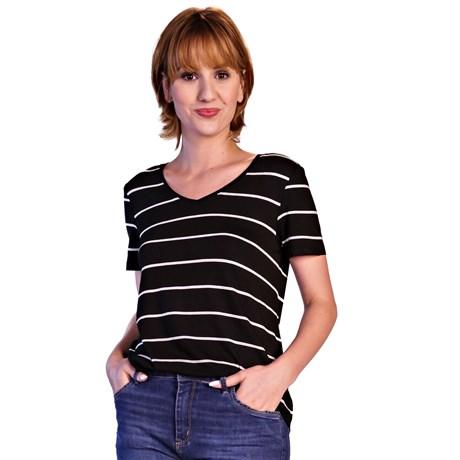 ITS&CO - T-shirt Delicate Preta Listras