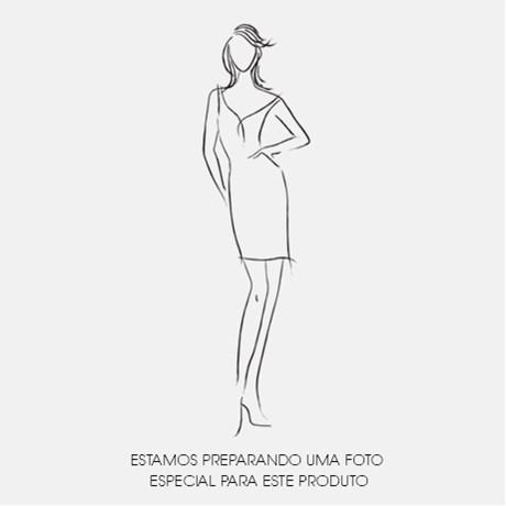 LEMON COLA - VESTIDO LONGO M/C CORPO GUIPURE SAIA PAETE - AZUL