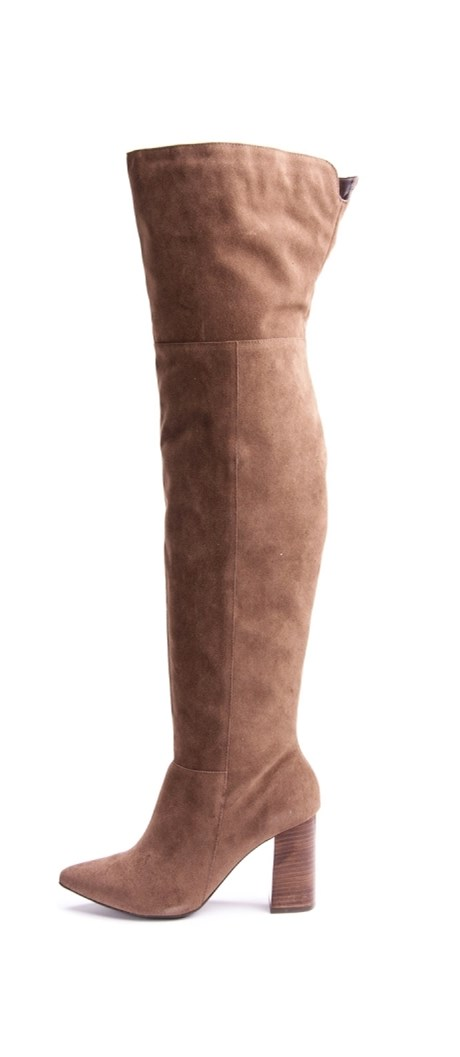 LIA LINE - BOTA CAMURÇA OVER THE KNEE - MARROM