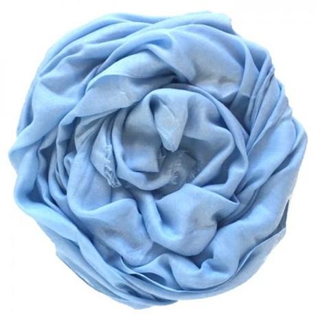 Pashmina Italiana Fluida Azul Bebe