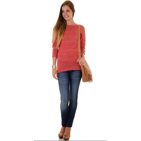 PULL TRICOT MULLET LÍVIA - CORAL