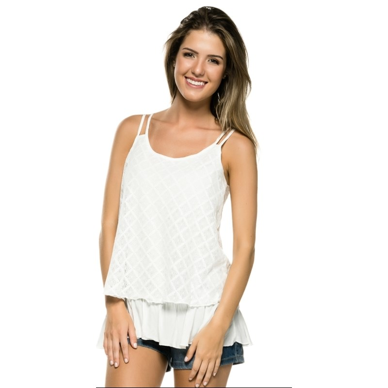 REGATA CAPITOLLIUM RENDA BARRADO - OFF WHITE