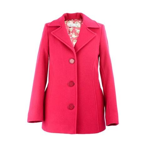 SALIS - Casaco de Lã Gola Diferenciada Pink