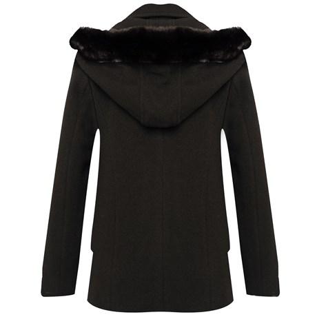 SALIS - Casaco de Lã Velour com capuz removivel