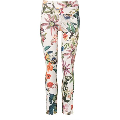 SCALON - CALÇA SKINNY PRENE ESTAMPA FLORAL - OFF WHITE