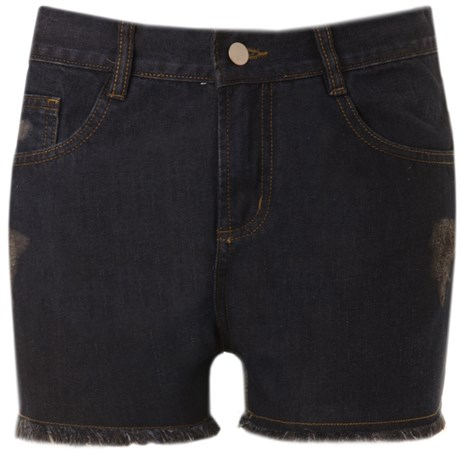 SHORTS JEANS BOYFRIEND WHITEHEAVEN - DARK BLUE