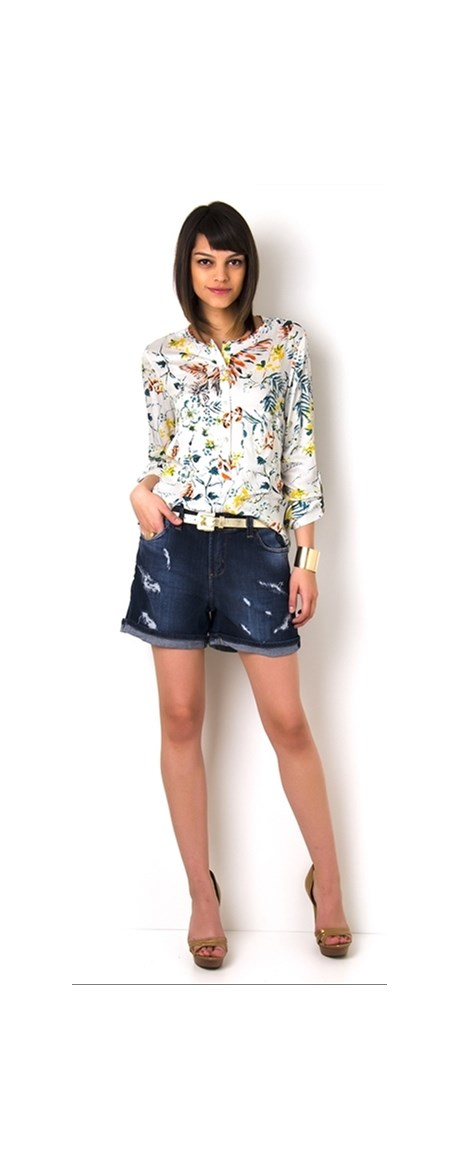 SHORTS JEANS DESTROYED - JEANS