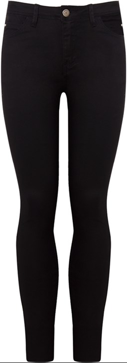 SHOULDER - CALÇA COLOR SKINNY BLACK SARJA JAGGER - PRETO