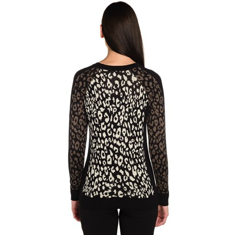 Sueter Tricot Leopardo Animal Print