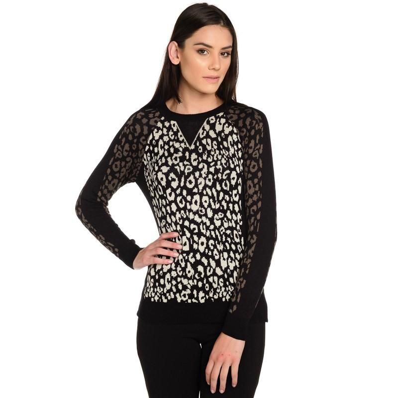 Sueter Tricot Leopardo Animal Print