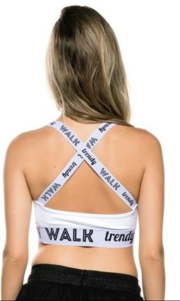 TOP WALK TRENDY TIRAS CRUZADAS - BRANCO