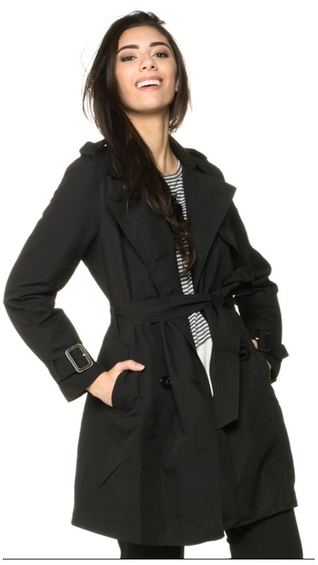 TRENCH-COAT NICE CLUB COM CINTO - PRETO