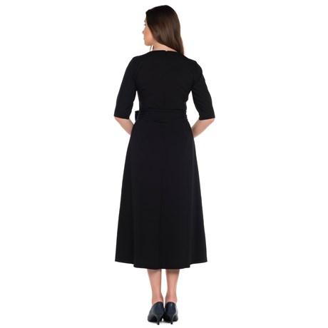 Vestido Bicolor com Cinto