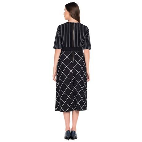Vestido Composee Listra Xadrez