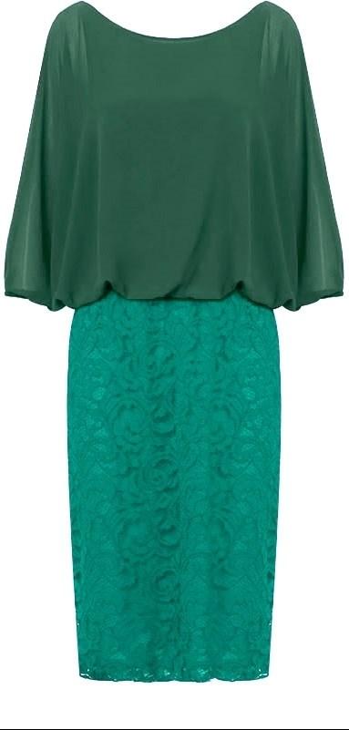 Vestido curto de festa verde agua