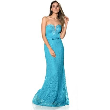 30073b045 Vestidos Longos de Renda com Bordados e Transparências - Capitollium