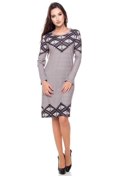 Vestido de malha losangos