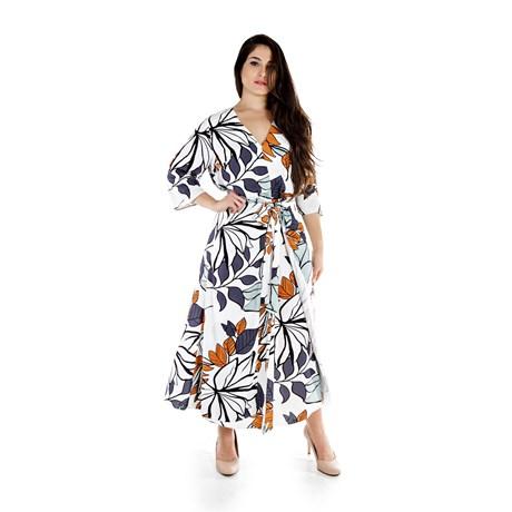 Vestido Estampa Ciclame Exclusiva - Cléo Aidar
