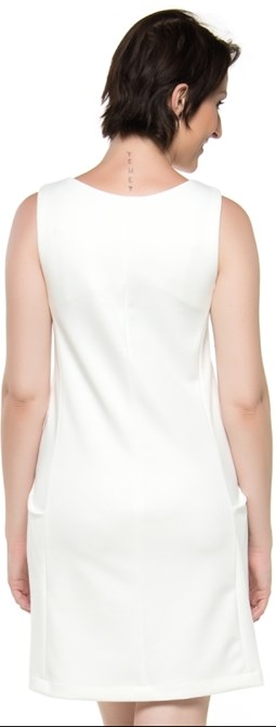 VESTIDO LANVIN BLOCK CAPITOLLIUM EXCLUSIVE - OFF WHITE