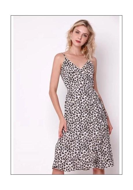 Vestido Midia Animal Print