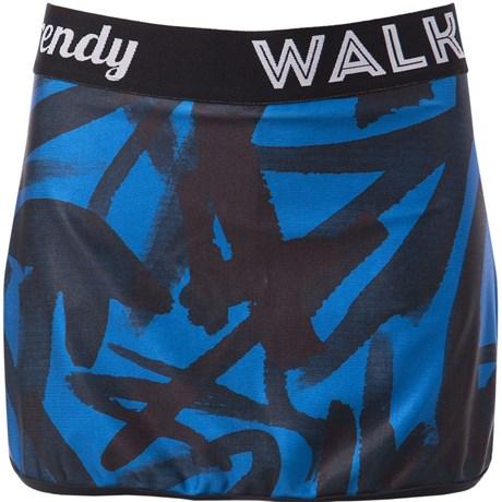 WALK TRENDY - SHORT SAIA ESTAMPADO COM ELÁSTICO - AZUL